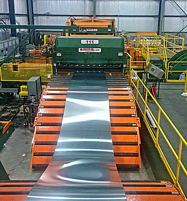 Roller Leveling Cut-To-Length Line processing aluminum strip