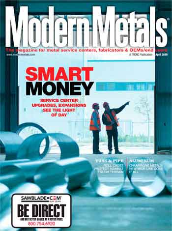 modern metals article for steel processing equipment builder