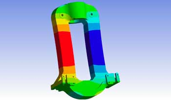 finite element analysis of mill housing for steel processing equipment