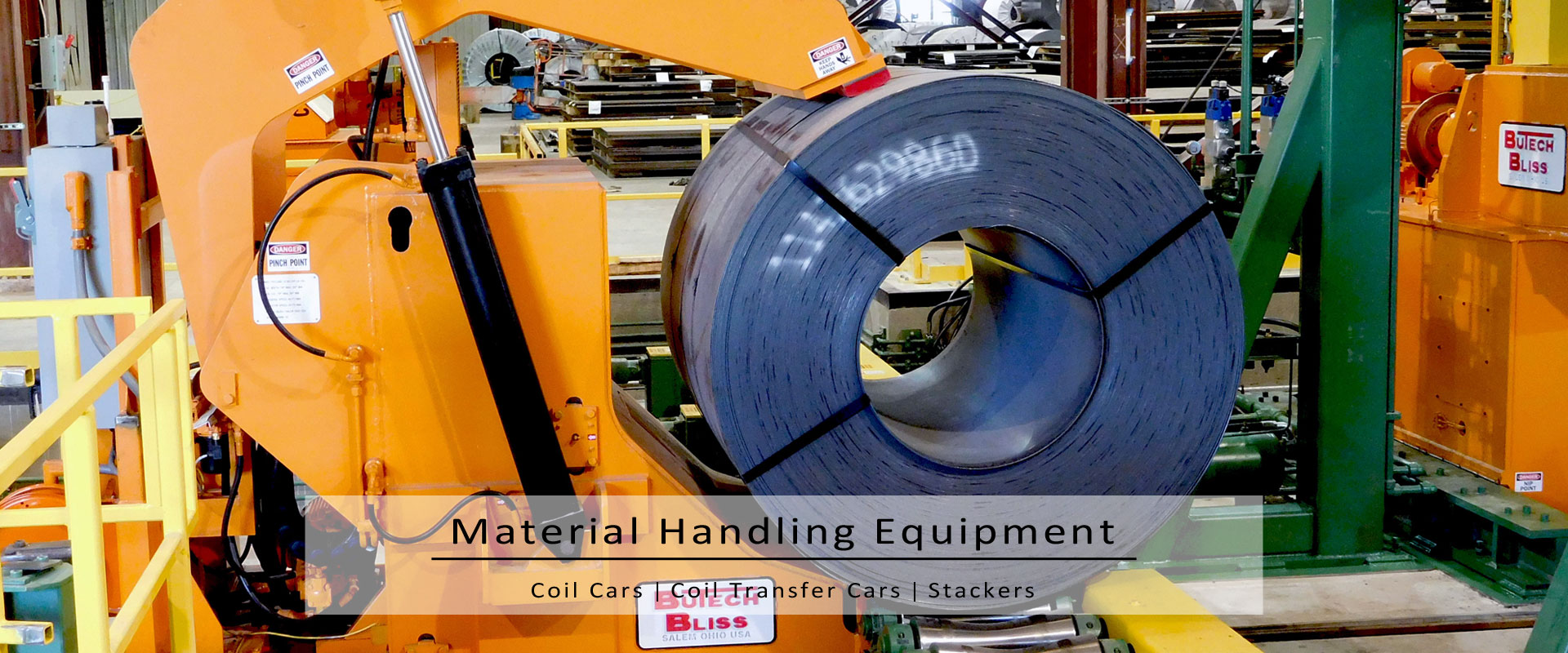 material handling equipment-coil cars-coil transfer cars-stackers